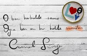 T.2-love02 (1).Aşk bazen sadece sen öyle sandığın için aşktır. Porselen tabak Paul Frank