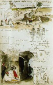 Eugène Delacroix. Page from the Maroccan Notebook 1832