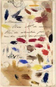 Letter from Eugène De la Croix to is paint dealer,oct.28 182