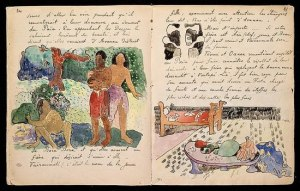 Pages from Gauguin's journal