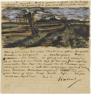 Vincent Van Gogh, Pollard Willow,To Teo from the Hague, July 1882