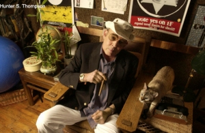 Hunter S. Thompson at Home in Colorado