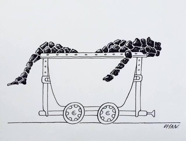 madenden çıkış karikatör